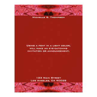 red  texture letterhead