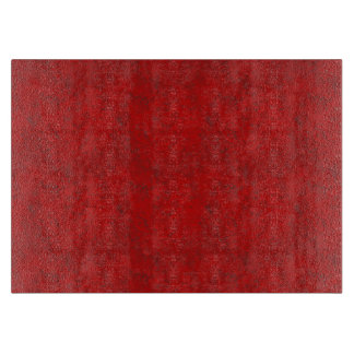 Red Texture MED Glass Cutting Board