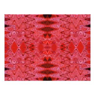 red texture scrapbook letterhead design