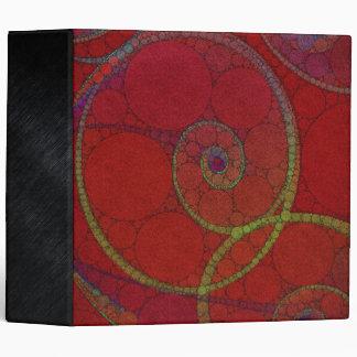 Red Textured Circle Pattern Binder