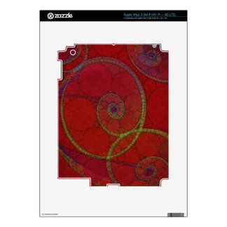 Red Textured Circle Pattern Decal For iPad 3