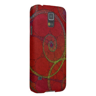 Red Textured Circle Pattern Galaxy S5 Covers