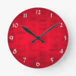 Red Textured Clocks