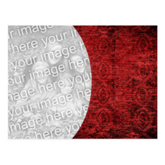 Red Textured Cutout Postcard
