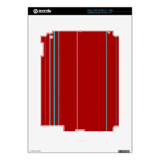 Red Textured With Light Blue Stripe Pattern iPad 2 Skins