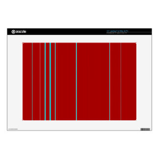 """Red Textured With Light Blue Stripe Pattern Skin For 15"""" Laptop"""