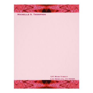 red textures letterhead