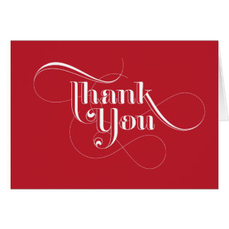 Red Thank You Cards
