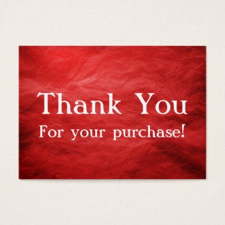 Thank You For Your Purchase Template