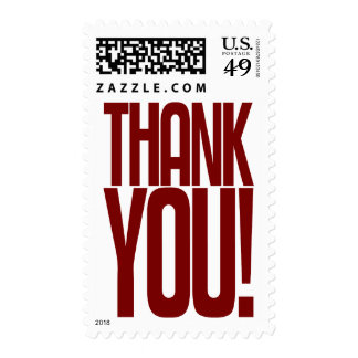 Red Thank You! Postage Stamp