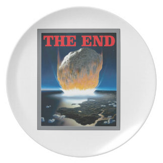 red the asteroid end melamine plate