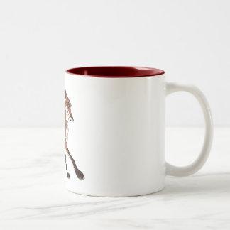 Red the Fox Two-Tone Coffee Mug