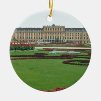 Red The Shonbrunn Castle of the Habsburgs, Vienna, Double-Sided Ceramic Round Christmas Ornament