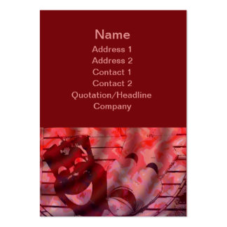 red theater masks large business cards (Pack of 100)