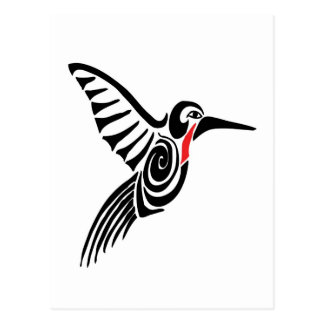 red thoarted hummingbird postcards