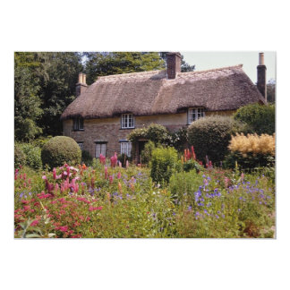 Red Thomas Hardy's cottage, Dorset, England flower Card