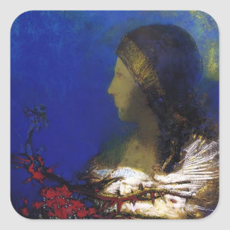 Red Thorns by Odilon Redon Square Stickers