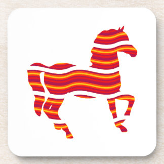 Red Thoroughbred Drink Coaster