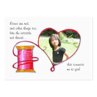 Red Thread Valentine or Lunch box love note profilecard