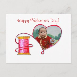 Red Thread Valentine's postcard postcard