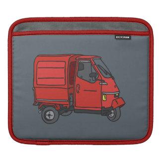Red Threewheeler Van iPad Sleeve