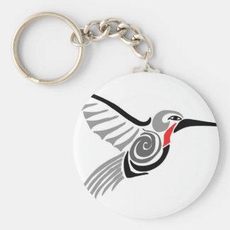 red throat-ed gray hummingbird keychain
