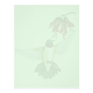 Red Throated Hummingbird2 letterhead_vertical Personalized Letterhead