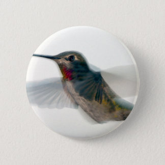 Red-Throated Hummingbird Button