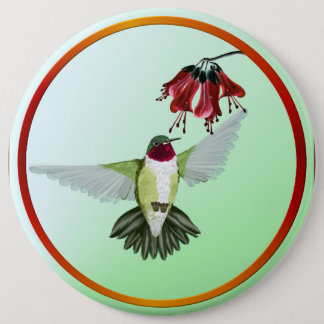 Red Throated Hummingbird- Buttons