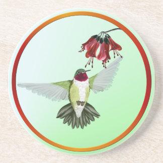 Red Throated Hummingbird- Coasters