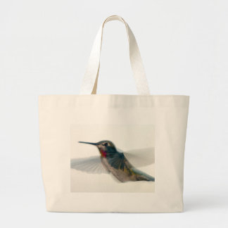 Red-Throated Hummingbird Large Tote Bag