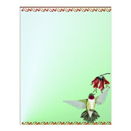 Red Throated Hummingbird letterhead_vertical Letterhead Design