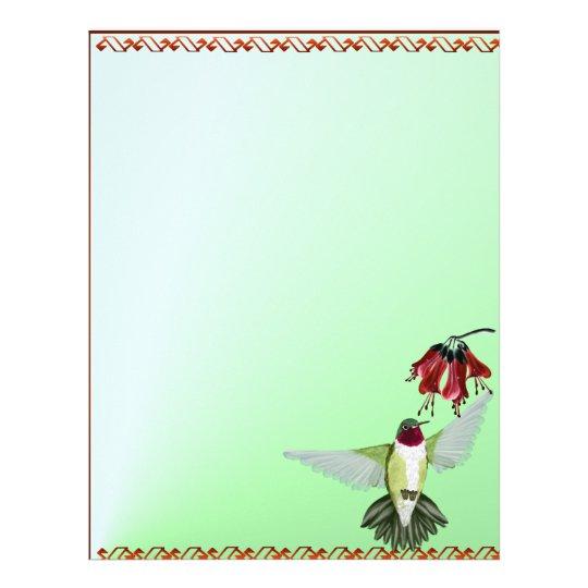 Red Throated Hummingbird letterhead_vertical Letterhead