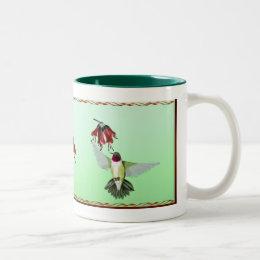 Red Throated Hummingbird_ Mugs