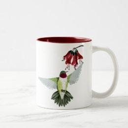 Red Throated Hummingbird  Mugs