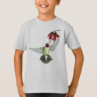 Red Throated Hummingbird Oval Shirts