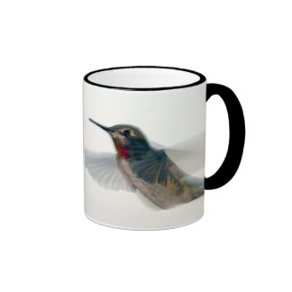 Red-Throated Hummingbird Ringer Coffee Mug