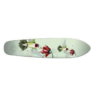 Red Throated Hummingbird Skateboard