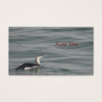 Red-throated Loon business card