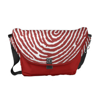 Red Thumbprint Handmade Messenger Bags