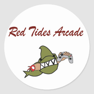 Red Tides Arcade Stickers