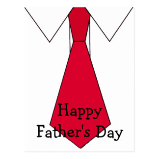 Red Tie for Dad - Customized Postcard