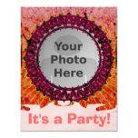 """Red Tiedye Photo Invitations 4.25"""" X 5.5"""" Invitation Card"""