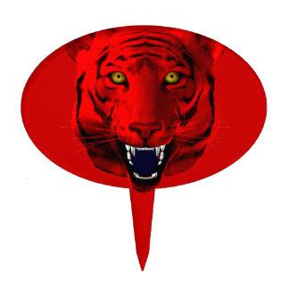 Red Tiger Cake Topper