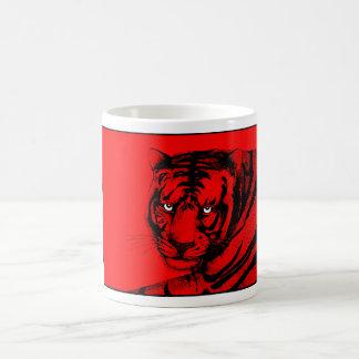 RED TIGER CLASSIC WHITE COFFEE MUG