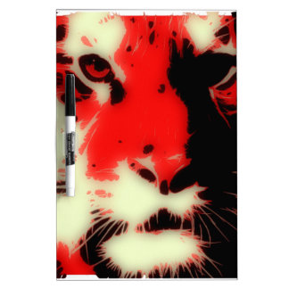 Red Tiger Face Dry Erase Boards
