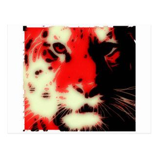 Red Tiger Face Postcard