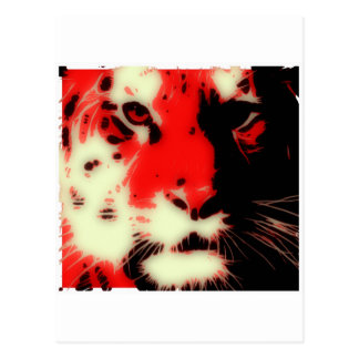 Red Tiger Face Postcard