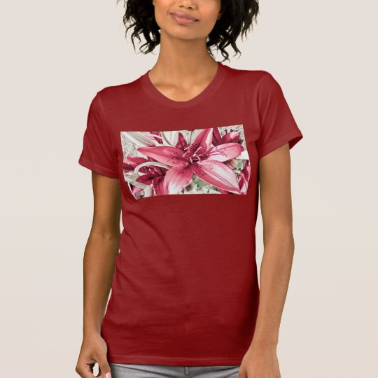 Red Tiger Lily T-Shirt