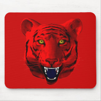 Red Tiger Mouse Pad